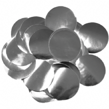 Metallic Silver Foil Confetti | 25mm Metallic Round | 50g Bag